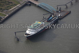 Birkenhead aerial photograph of Norfolk Line roll on roll off ferry