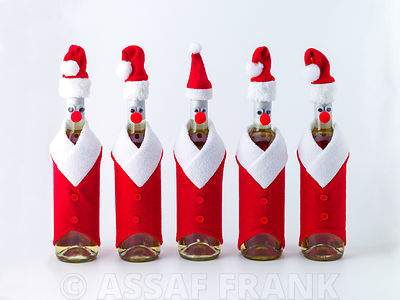 Santa Bottles photos