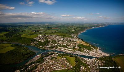 aerial photograph of Looe  Cornwall England UK