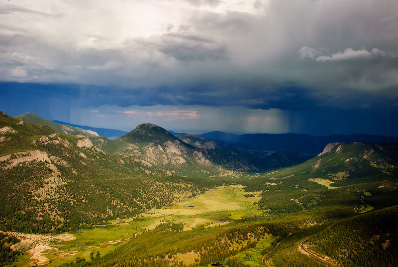Afternoon thunderstorm, RMNP