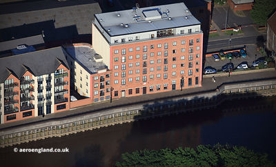 Whitton's Mill Granary Wharf,  Gainsborough  aerial photograph