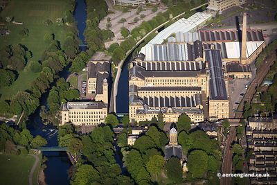 aerial photograph of Salt's Mill Saltaire, Bradford, West Yorkshire