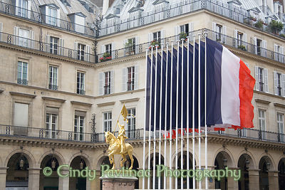 Joan of Arc Flags, Victory Day, Paris