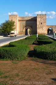 Bab el-Mansour, the entrance to the Imperial city,  Meknes, Morocco; Portrait
