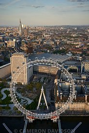 Aerial Photograph of the Eye of London and Thames River