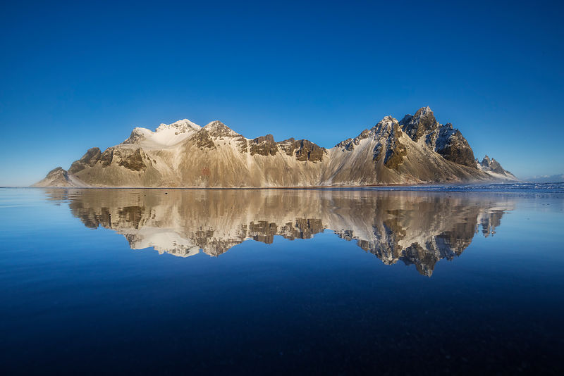Reflection of Vestrahorn (Western Point)