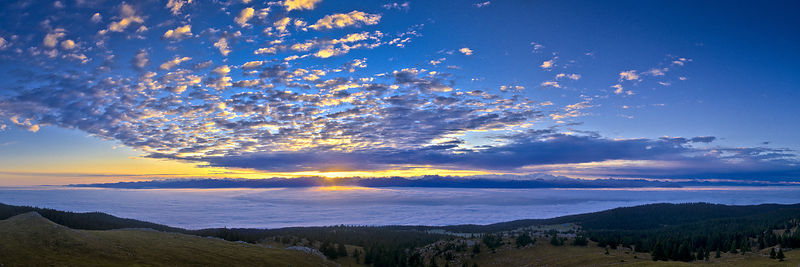 Sunrise over the fog 2