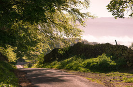 Peak District country lane
