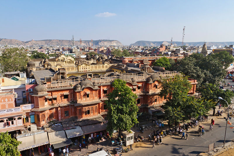 Elevated View of the City of Jaipur