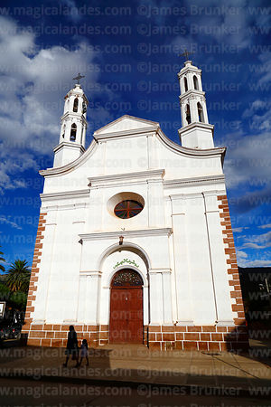 Entrance facade of church in Camargo, Chuquisaca Department, Bolivia