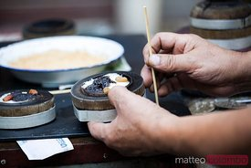 Street food in China: typical rice cake