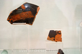 Greek Pottery Fragments; Carthage Museum, Tunis, Tunisia; Landscape
