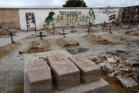 Graves of soldiers who fought in Chaco War in cemetery, Uyuni, Bolivia