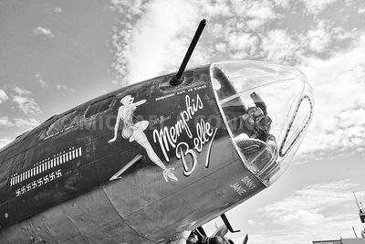 Memphis Belle - Right Side Nose Art (B&W)