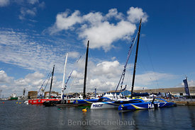 The Bridge 2017 - Saint-Nazaire le 24/06/2017 - Les trimarans ULTIME dans le bassin