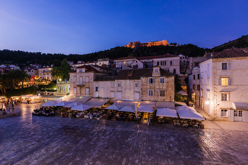 Hvar Center at Dusk