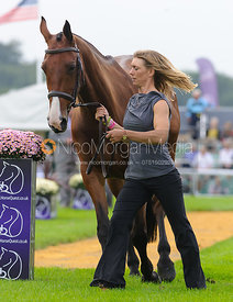 Louisa Lockwood and BALLYFARRIS FLIGHT - The first vets inspection (trot up),  Land Rover Burghley Horse Trials, 3rd September 2014.