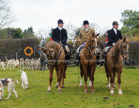 Adam Cooke and Nick Wright - The Cottesmore Hunt at Hill Top Farm 10/12/13