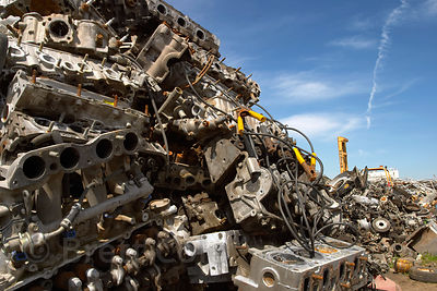 A Futuristic Looking Pile Of Engine Blocks Sitting In A Junkyard Springfield Oregon