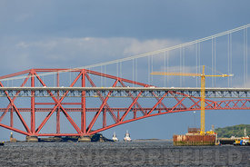 The Queensferry Crossing construction.