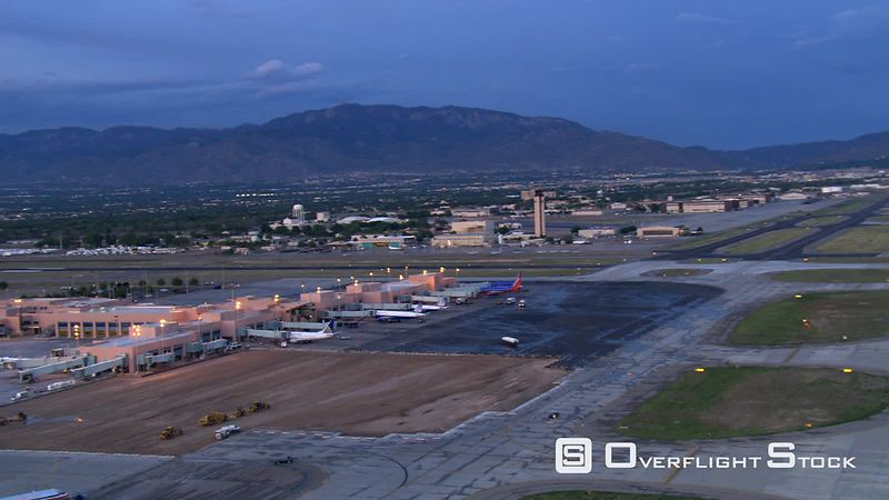 Orbiting Albuquerque International Airport.