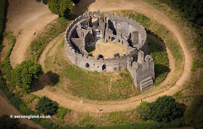 Restormel Castle from the air