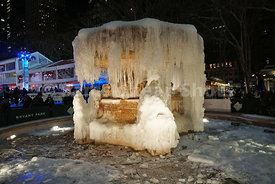 Frozen Fountain, Bryant Park, NYC, 2018