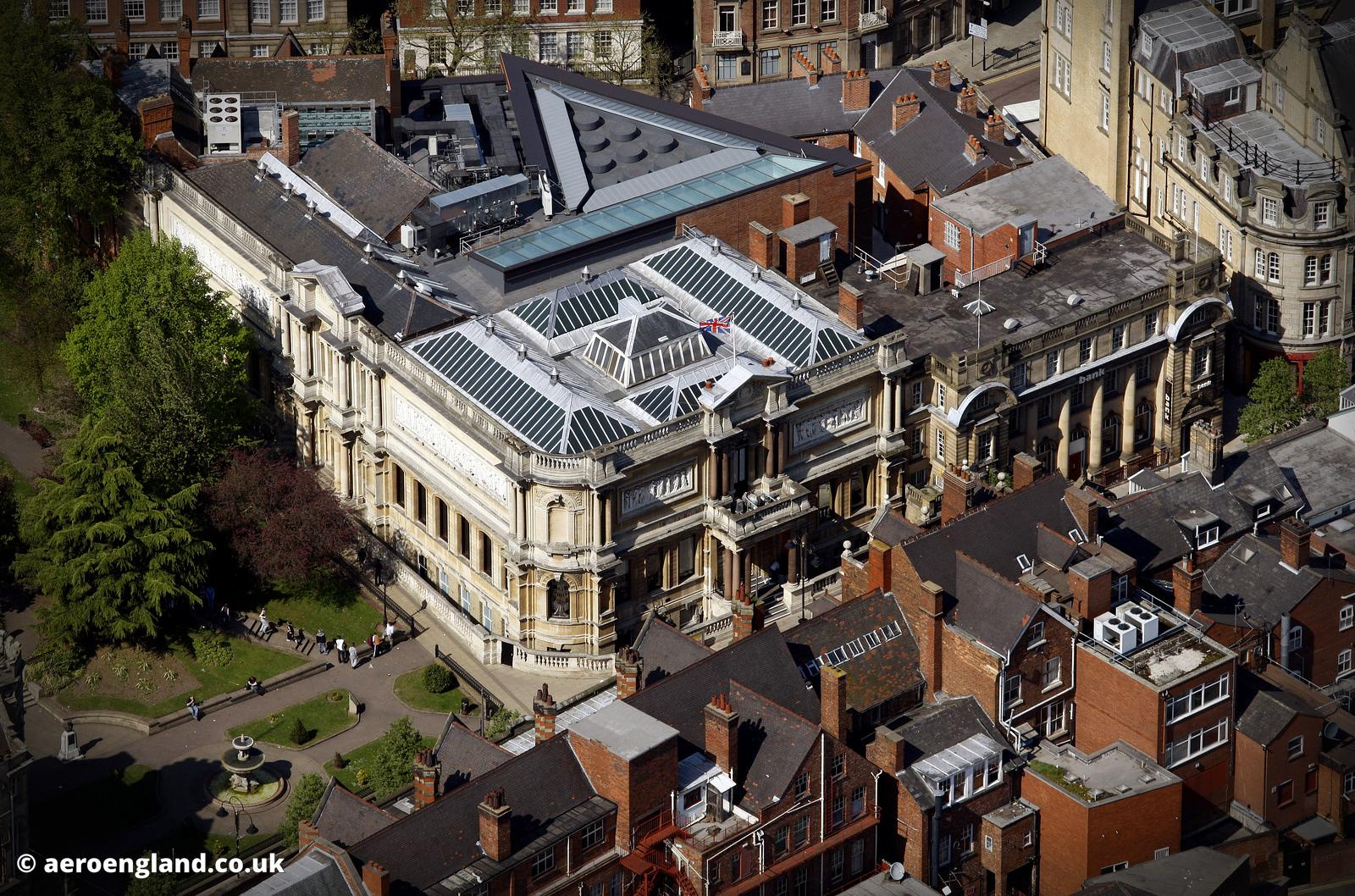 aerial photograph of Wolverhampton Art Gallery