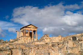 Looking towards the Capitol of Dougga; Tunisia; Landscape
