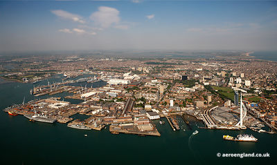 aerial photograph of Portsmouth Hampshire   England UK