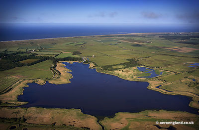 aerial photograph of Horsey Mere, Norfolk.