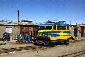 FCA rail inspection car #312 in Uyuni station, Bolivia