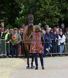Pippa Funnell and BILLY BEWARE - First Horse Inspection, Mitsubishi Motors Badminton Horse Trials 2014