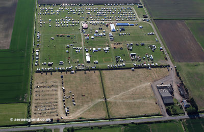 agricultural show and steam fair at Frithville  Lincolnshire aerial photograph