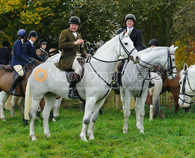 Andrew and Marcus Collie - The Cottesmore Hunt meet at Oak House, Tilton On The Hill, Saturday 31st October 2015.