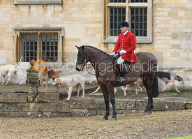 Andrew Osborne at the meet - The Cottesmore Hunt at Little Dalby 7/2