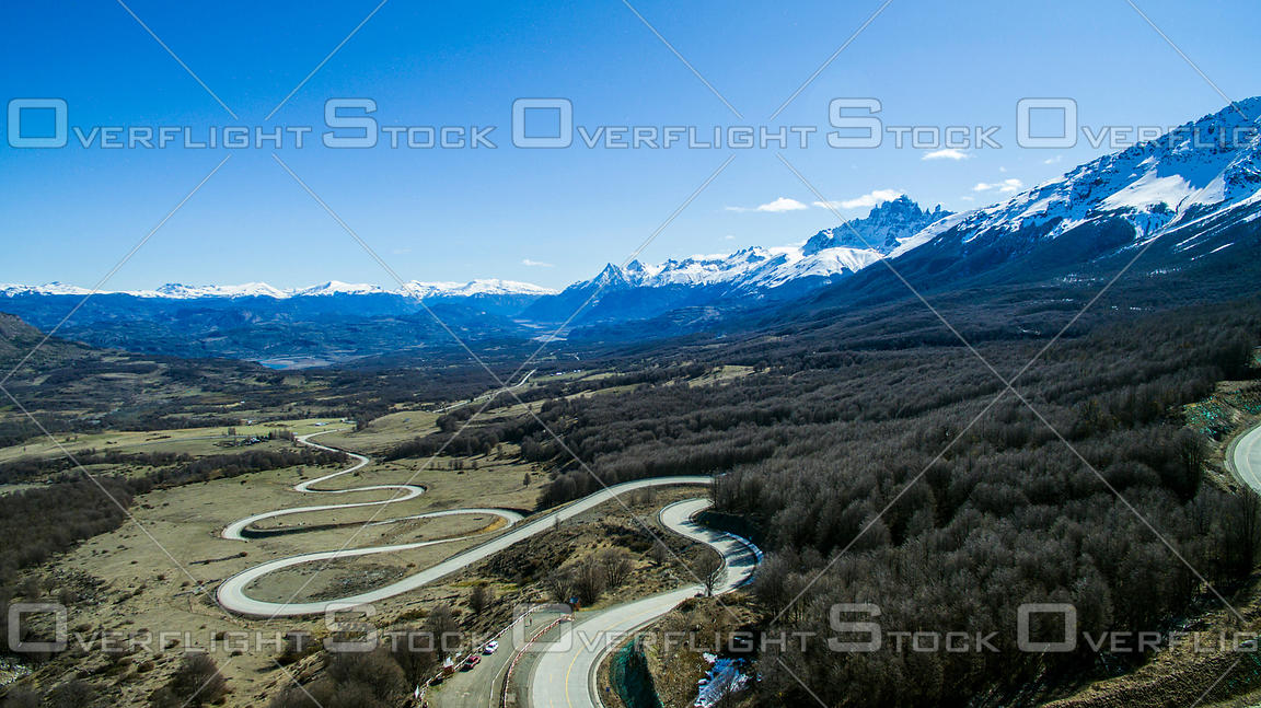 Winding Road of Carr Austral Coyhaique Chile