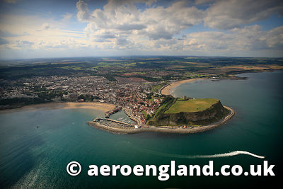 aerial photograph of Scarborough   Yorkshire,  England UK