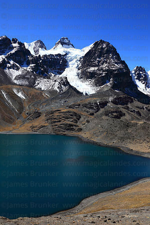 Mt Condoriri and Lake Chiar Kota, Cordillera Real, Bolivia