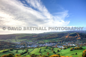 View Of Llangollen  From Castell Dinas Bran