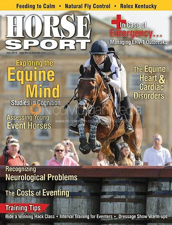 Rebecca Howard and Riddle Master  - Horse Sport Cover 2013