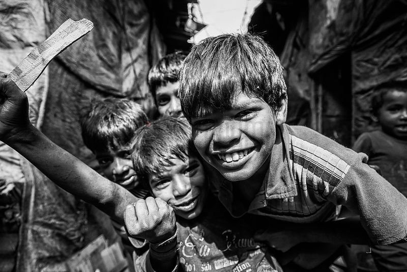 Slum Kids around the Railroad Station of Sadar Bazaar