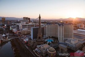 Sunrise over Las Vegas, Nevada, USA