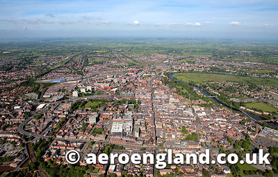 aerial photograph of Chester Cheshire England UK