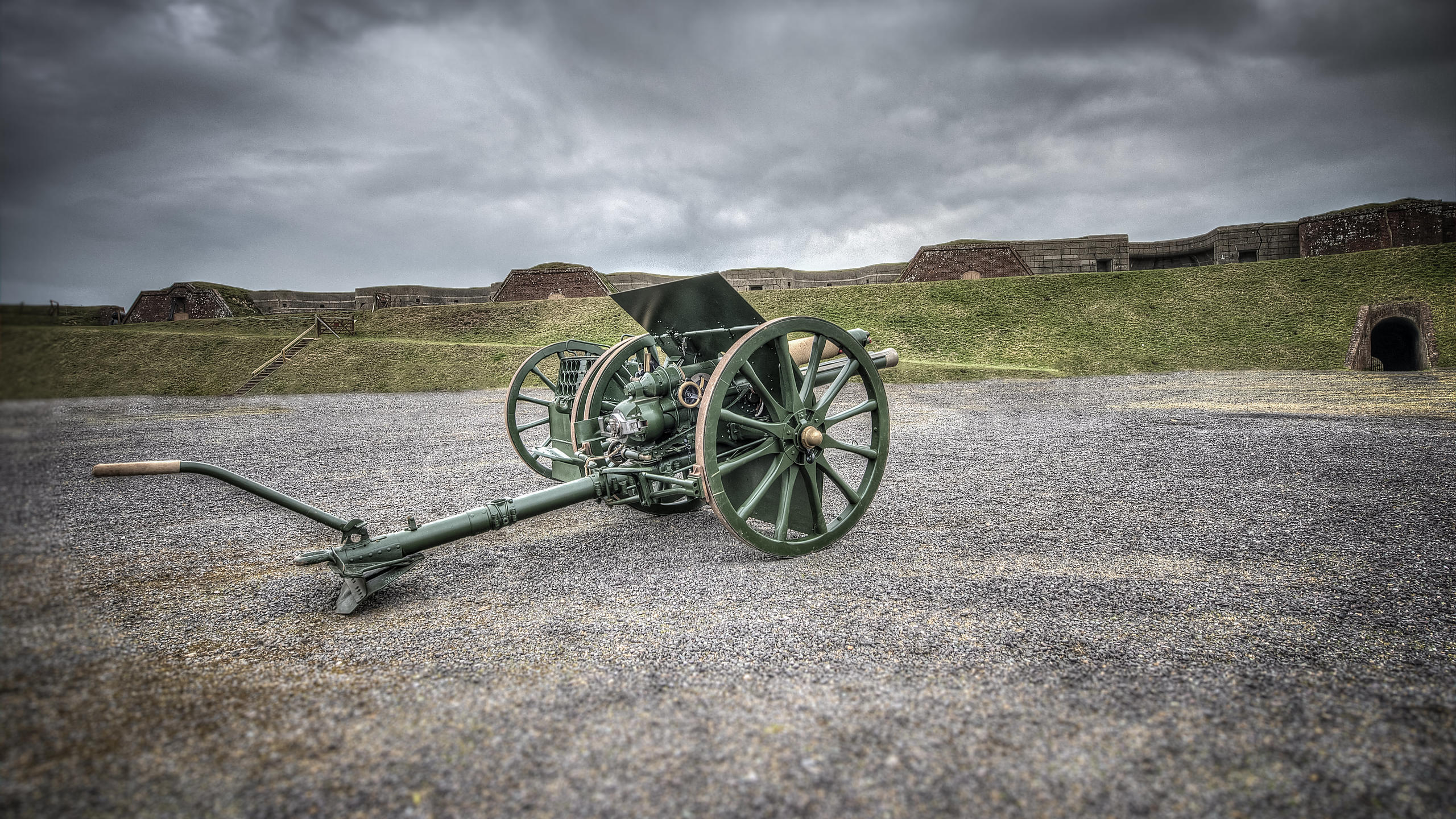 WW1 Cannon at Fort Nelson, Hampshire