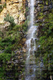 Detail of one of Chorros de Jurina waterfalls, Tarija Department, Bolivia