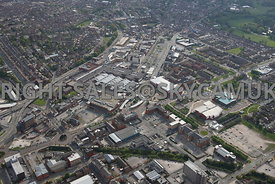 Birkenhead aerial photograph of Birkenhead town centre and the retail shopping and entertainment centre