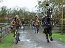 David Burrell and Charlotte Morgan at the meet - The Cottesmore Hunt at the kennels 21/10