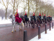 Royal Horse Guards Cavalry parade, London, UK
