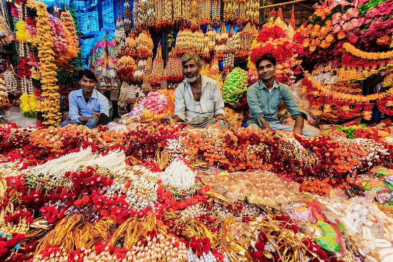 Store Owners Selling Festival Decorations